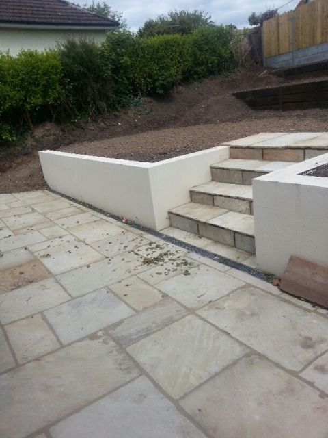 SandstoneStepsandPatio