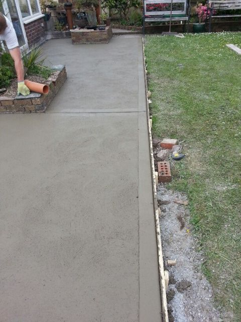 Concrete Foot path