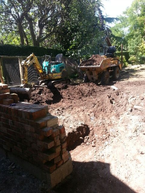 Excavation for Extension
